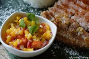 Przepis na tuńczyka z grilla z salsą z mango