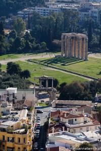 Świątynia Zeusa i Łuk Hadriana widok z Akropolu