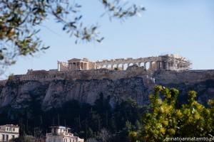 Akropol widok z Agory