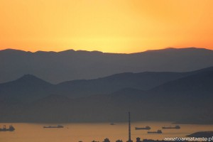 zachód słońca na Wzgórzu Likavitos