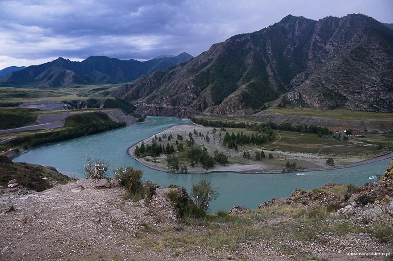 miejsce, gdzie rzeki Argut i Czuja wpływają do Katuni.