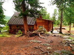 rosyjska bania - drewniany domek