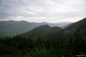 widok z Przełęczy Czike Taman