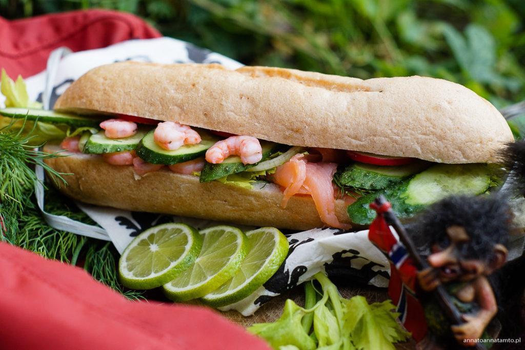 Przepis na norweską kanapkę z krewetkami