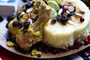 Ryż po irańsku z kurczakiem i żurawiną